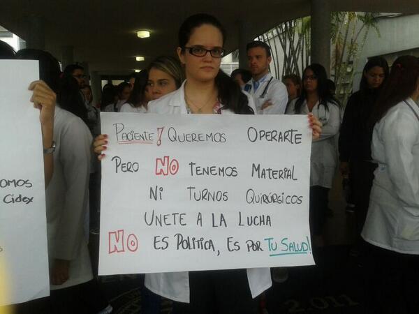 medico protesta
