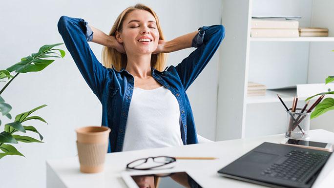 resiliencia descansar feliz trabajo